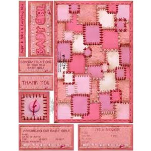 E-Cuts Cards (Download and Print) Baby Girl Quilt