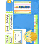 E-Cuts Cards (Download and Print) Birthday Trifold-Blue
