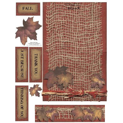 E-Cuts Cards (Download and Print) Fall Thank You
