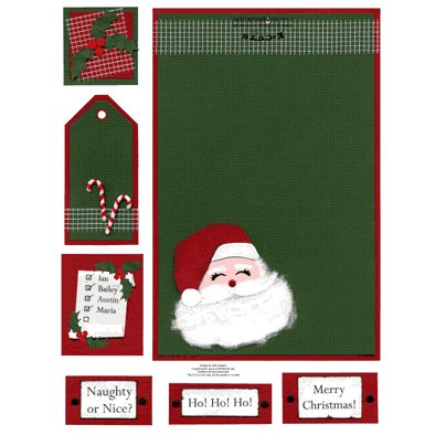 E-Cuts Cards (Download and Print) Santa Claus