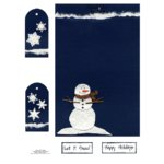 E-Cuts Cards (Download and Print) Snowman Holiday