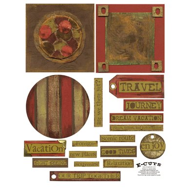 E-Cuts (Download and Print) 4x4 Album Kit: Traveler 1