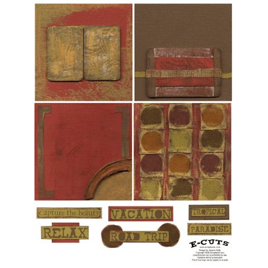 E-Cuts (Download and Print) 4x4 Album Kit: Traveler 3