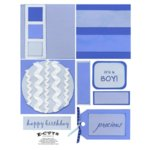 E-Cuts (Download and Print) 4x4 Album Kit: Baby Boy 1
