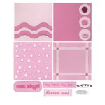 E-Cuts (Download and Print) 4x4 Album Kit: Baby Girl 3