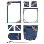 E-Cuts (Download and Print) Denim and Daisies