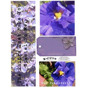E-Cuts (Download and Print) Friendship Flowers 1