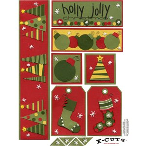 E-Cuts (Download and Print) Holly, Jolly Christmas