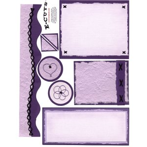 E-Cuts (Download and Print) Monochromatic Purple