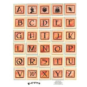 E-Cuts (Download and Print) Sherbet Alphabet