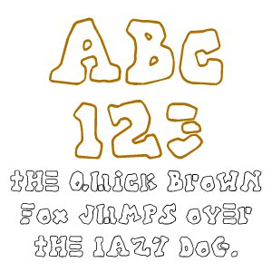 Fonts (Download) SBC Aztec Outline