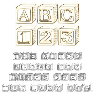Fonts (Download) SBC Baby Blocks