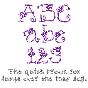Fonts (Download) SBC Funky Flowers