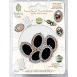 Epiphany Crafts - Metal Charm Settings - Oval 25 - Silver