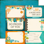 Echo Park - All About a Boy - 12 x 12 Double Sided Paper - 4 x 6 Journaling Cards