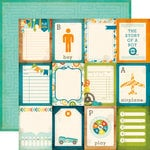 Echo Park - All About a Boy - 12 x 12 Double Sided Paper - 3 x 4 Journaling Cards