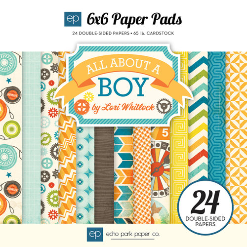 Echo Park - All About a Boy - 6 x 6 Paper Pad