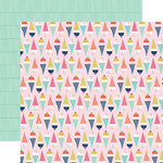 Echo Park - Anything Goes Collection - 12 x 12 Double Sided Paper - Double Scoop