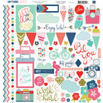 Echo Park - Anything Goes Collection - 12 x 12 Cardstock Stickers - Elements