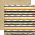 Echo Park - Arsenic and Lace Collection - 12 x 12 Double Sided Paper - Stripe