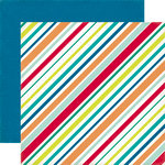 Echo Park - Birthday Collection - Boy - 12 x 12 Double Sided Paper - Stripes