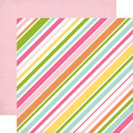 Echo Park - Birthday Collection - Girl - 12 x 12 Double Sided Paper - Stripes