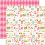 Echo Park - Birthday Collection - Girl - 12 x 12 Double Sided Paper - Birthday Party
