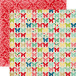 Echo Park - Beautiful Life Collection - 12 x 12 Double Sided Paper - Butterflies