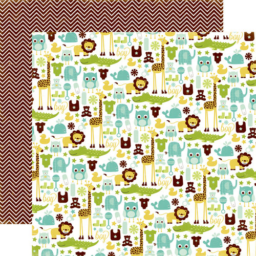 Echo Park - Bundle of Joy Collection - Boy - 12 x 12 Double Sided Paper - It's A Boy