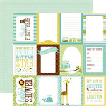 Echo Park - Bundle of Joy Collection - Boy - 12 x 12 Double Sided Paper - Boy Journaling Cards