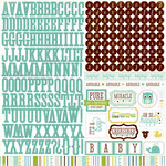 Echo Park - Bundle of Joy Collection - Boy - 12 x 12 Cardstock Stickers - Alphabet