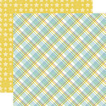Echo Park - Bundle of Joy New Addition Collection - Boy - 12 x 12 Double Sided Paper - Baby Boy Plaid