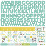 Echo Park - Bundle of Joy New Addition Collection - Boy - 12 x 12 Cardstock Stickers - Alphabet