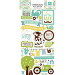 Echo Park - Bundle of Joy New Addition Collection - Boy - Chipboard Stickers