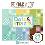 Echo Park - Bundle of Joy New Addition Collection - Boy - 6 x 6 Paper Pad - Dots and Stripes