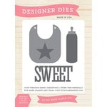 Echo Park - Bundle of Joy New Addition Collection - Boy - Designer Dies - Baby Bib and Bottle