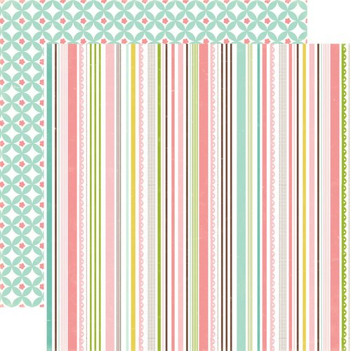 Echo Park - Bundle of Joy Collection - Girl - 12 x 12 Double Sided Paper - Sweet Stripe