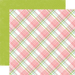 Echo Park - Bundle of Joy New Addition Collection - Girl - 12 x 12 Double Sided Paper - Baby Girl Plaid