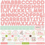 Echo Park - Bundle of Joy New Addition Collection - Girl - 12 x 12 Cardstock Stickers - Alphabet