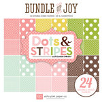 Echo Park - Bundle of Joy New Addition Collection - Girl - 6 x 6 Paper Pad - Dots and Stripes