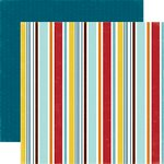 Echo Park - Bark Collection - 12 x 12 Double Sided Paper - Puppy Stripe