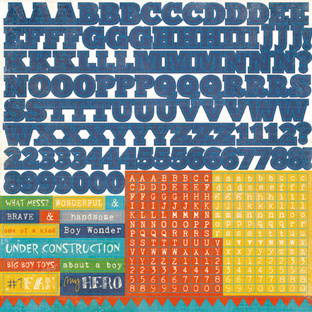 Echo Park - A Boy's Life Collection - 12 x 12 Cardstock Stickers - Alphabet