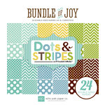 Echo Park - Bundle of Joy Collection - Boy - 6 x 6 Paper Pad - Dots and Stripes