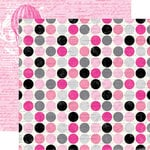 Echo Park - Be Mine Collection - Valentine - 12 x 12 Double Sided Paper - Script Polka Dots