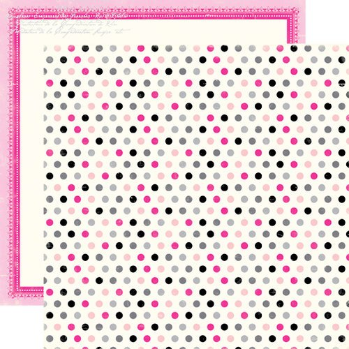 Echo Park - Be Mine Collection - Valentine - 12 x 12 Double Sided Paper - Precious Polka Dots