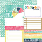 Echo Park - Creative Agenda Collection - 12 x 12 Double Sided Paper - 4 x 6 Journaling Cards
