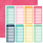 Echo Park - Creative Agenda Collection - 12 x 12 Double Sided Paper - Checklists