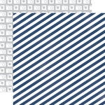 Echo Park - Creative Agenda Collection - 12 x 12 Double Sided Paper - Blue Stripe