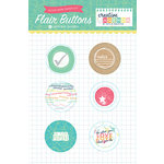 Echo Park - Creative Agenda Collection - Flair Buttons
