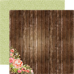 Carta Bella - Rustic Elegance Collection - 12 x 12 Double Sided Paper - Wood Floral